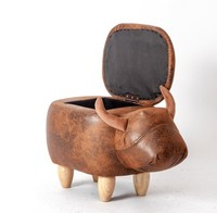 New Rhinoceros Shoes Stool Children Animal Chair Home Storage Stool Sofa Ottoman 65x35x42cm Kids Small Stool Storage Stool C141