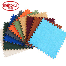 Купить с кэшбэком Meitoku Soft EVA Foam short fur puzzle baby play mat; interlock floor fleece in one side; Exercise mat,living room.Thick 0.6cm