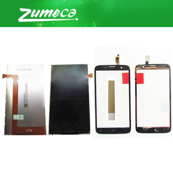 High Quality For <font><b>Lenovo</b></font> <font><b>A850</b></font> <font><b>LCD</b></font> Display Screen+Touch Screen Digitizer Black Color Replacement Part With Tape image