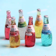 4pcs New slime filling material mini beer bottle diy handmade material resin beverage bottle juice bottle mucus filling jewelry(China)