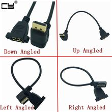 DisplayPort DP ชายขึ้นและลงซ้ายและขวามุม 90 องศาหญิงเสียบปลั๊กต่อสายจอแสดงผลพอร์ต 30 ซม.