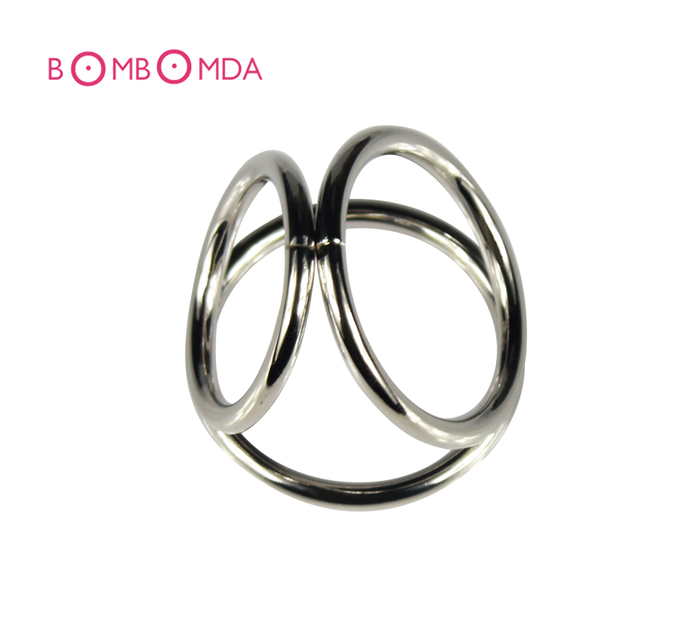 Stainless Steel Male Chastity Device Penis Cock Dick 3 Rings Sleeve Belt Sex Toys Products For