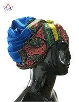 עיצובים חדשים אביזרי שיער באיכות גבוהה אפריקאי Gele ראש עניבה BRW01 דאשיקי Headtie סגו Bazin עשיר 12 צבעים