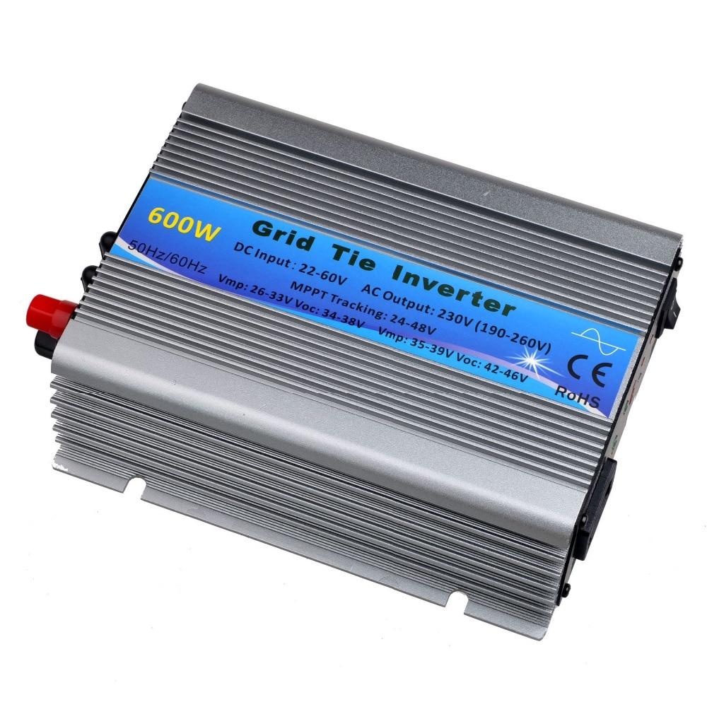 600W Solar Inverter  Grid Tie Inverter DC22V-60V to 230VAC(190-260VAC) Pure Sine Wave Inverter 50Hz/60Hz(Auto Control) CE 400w grid tie inverter dc22v 60v to ac230v 190 260vac pure sine wave inverter 400w 50hz 60hz auto control ce dc to ac inverter