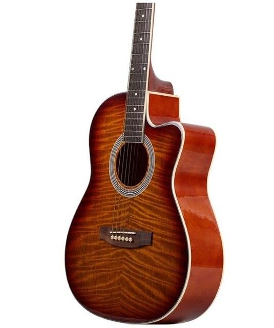39-8 Hot guitarras 39 polegada alta qualidade Guitarra Picea Asperata guitarra instrumentos Musicais com cordas da guitarra Acústica