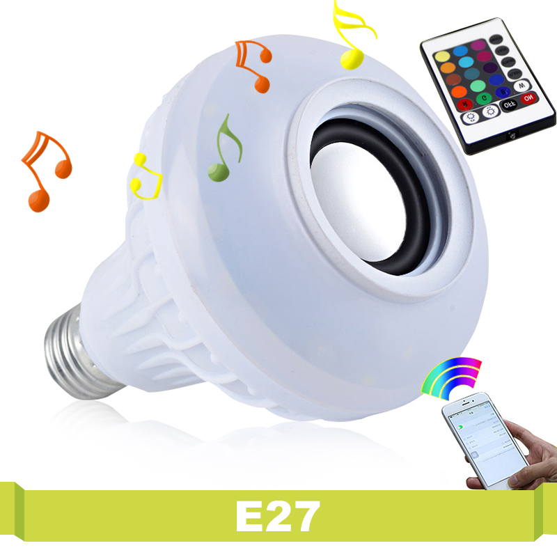 Wireless Bluetooth Speaker Bulb Smart Colorful Music Magic Playing Lighting With 24 Key Controller Remote Control RGB Led Light 2in1 wireless bluetooth speaker