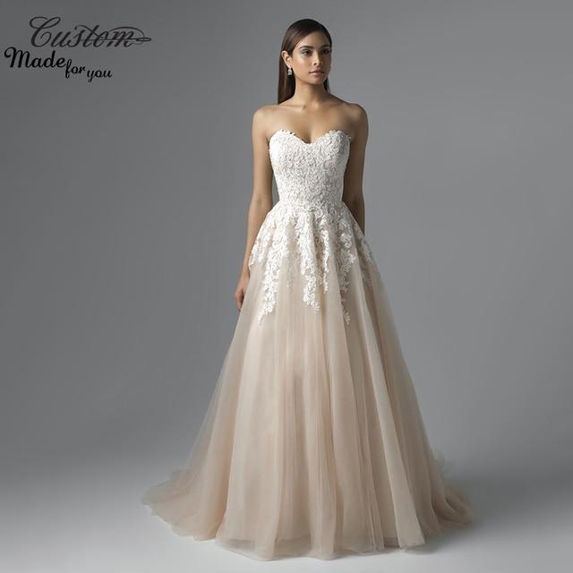 Robe De Soriee New Simple Wedding Dress Full Sleeve Lace: Aliexpress.com : Buy Fresh Looking A Line Sweetheart Tulle