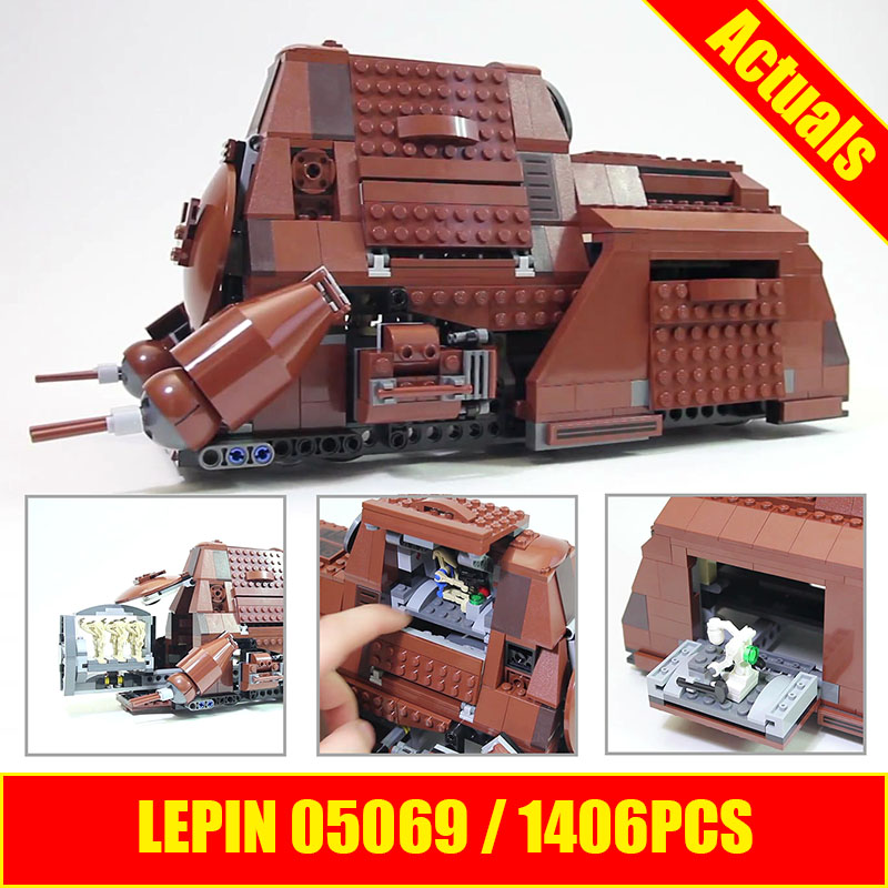 Lepin 05069 Star Series Wars The Federation Transportation Tank Set 1338Pcs MTT Children Building Blocks Bricks
