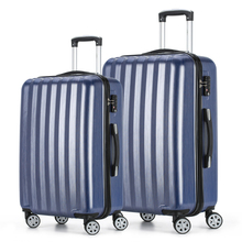 2017 Fochier Journey Baggage set four Wheels Cabin ABS Exhausting Shell Trolley Suitcase Blue 20 24inch