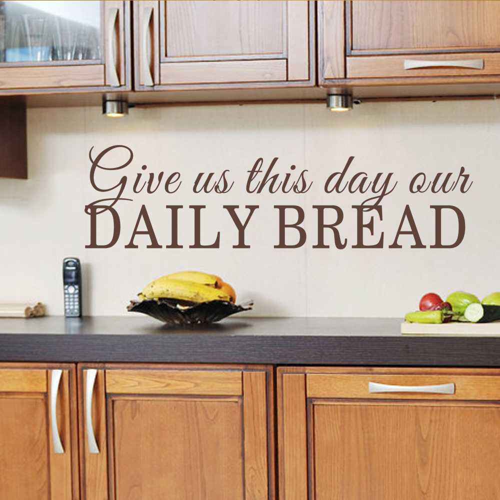 dining room wall decal give us this day our daily bread kitchen scriptures decal bible verse