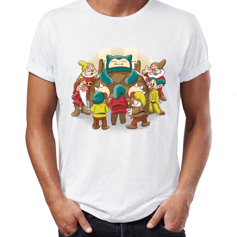 new-men's-t-shirt-font-b-pokemon-b-font-snorlax-and-the-seven-dwarves-spirit-animal-funny-awesome-artwork-printed-tshirt-tees-harajuku