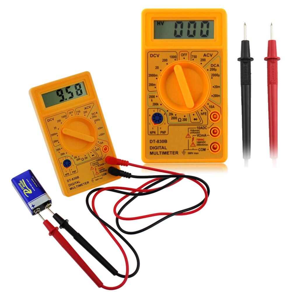 DT-830B skaitmeninis multimetras, elektroninis testeris, 0,5 colio - Matavimo prietaisai - Nuotrauka 4