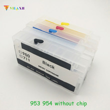 vilaxh 953xl Refillable Cartridge Replacement For HP 953 954 955 952 XL for Officejet Pro 8730 8740 8735 8715 8720 Printer