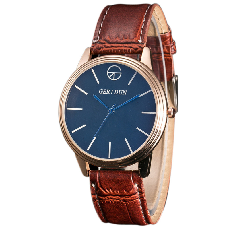 New Arrive 2018 Watch Men Luxury Fashion Faux Leather Strap Dial Quartz Watch Casual Males Business Watches Relogios Feminino