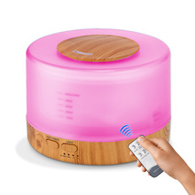 Newest Design Remote Control Essential Oil Diffuser with 7 Colors LED Light Ultrasonic Cool Mist Aroma Humidifier 500ml