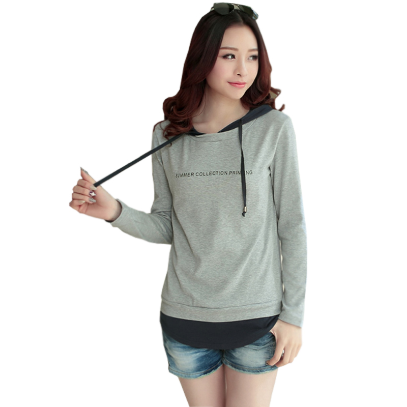 buy camisetas mujer t shirt women 2017 hooded tshirt womens long sleeve tops. Black Bedroom Furniture Sets. Home Design Ideas