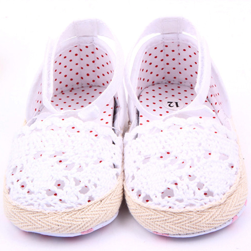 Fashion Baby Kids Girls Cotton Frework Bowknot Infant Soft Sole Baby First Walker Toddler Shoes
