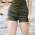 2017 moda curto mulheres estilo militar verão sexy hot summer estilo mini verde exército ocasional shorts free army gk-9502a