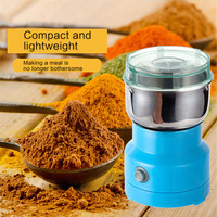 Electric Coffee Grinder Food Chopper Processor Mixer Blender Pepper Salt Garlic Seasoning Extreme Speed Grinding Kitchen Tools