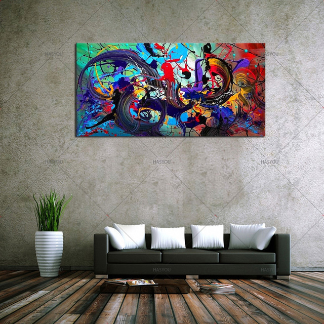 Large 100 Handmade Abstract Canvas Wall Art Modern Oil Painting On Cnavas Contemporary Decor Artwork