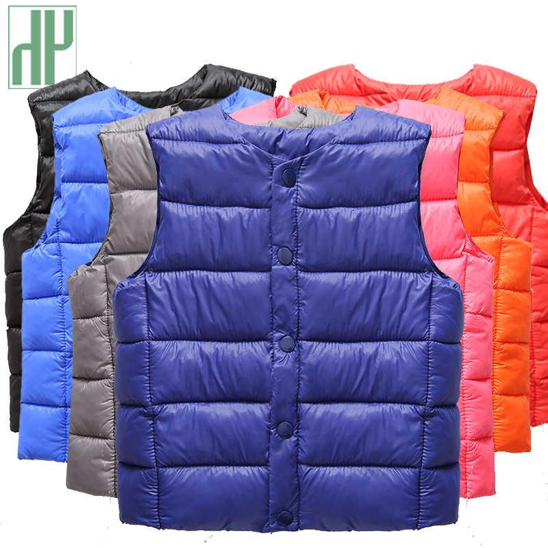 HH niños chaleco sin mangas de la chaqueta de la ropa de los niños chaleco para niños de invierno de algodón otoño niño niña chaleco prendas de vestir chaqueta