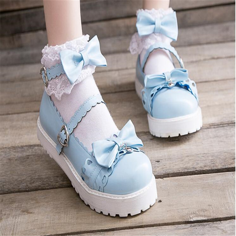 Image 4 - bowknot  LOLITA Shoes JK Uniform Shoes PU Leather  lolita Shoes A947-in Shoes from Novelty & Special Use