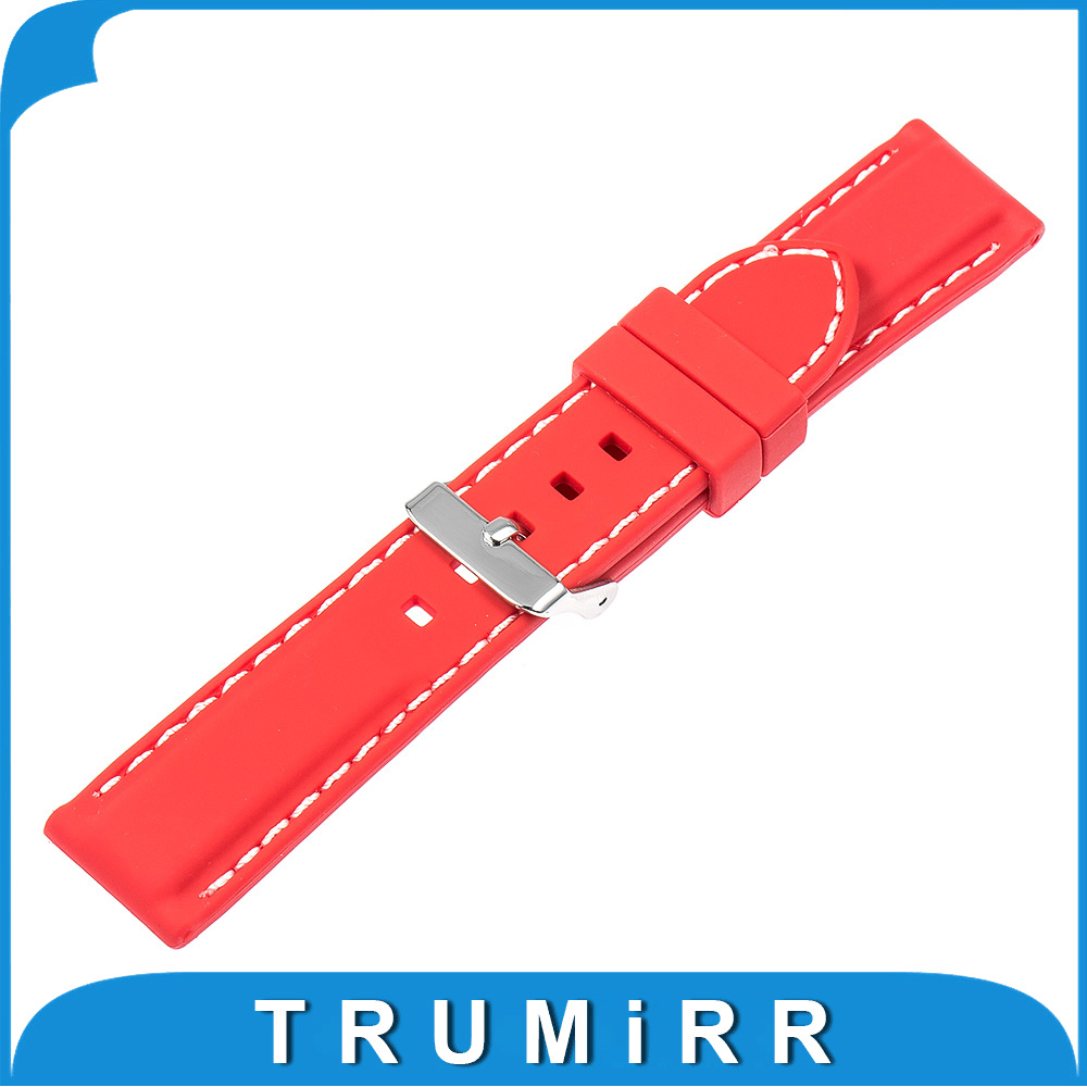 Silicone Rubber Watch Band for Pebble Time Round 20mm Bradley Timepiece Resin Strap Stainless Steel Buckle Bracelet Black Red 20mm silicone rubber watch band for pebble time round 20mm bradley timepiece stainless steel buckle strap resin bracelet black
