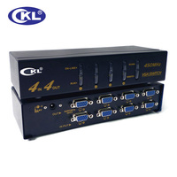 CKL High end VGA Switch Splitter 2x2 2x4 4x4 with Audio 2048*1536 450MHz for PC Monitor Projector TV wih IR Remote RS232 Control