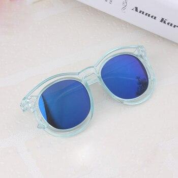 2018 Clear Frame Kids sun glasses Child UV400 protection Sunglasses Baby Girls Kids oculos de sol Lovely children glasses N239