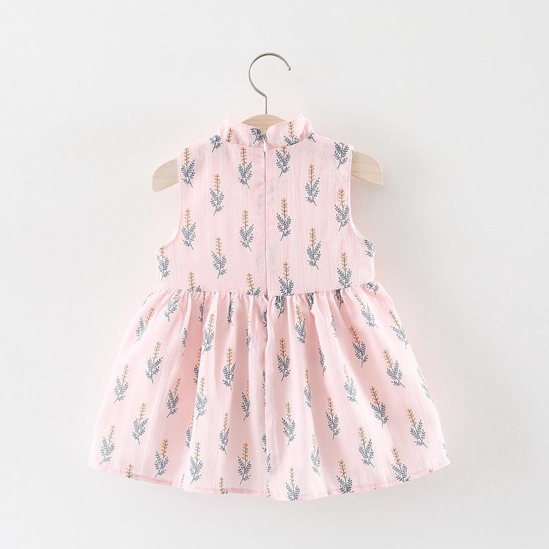Chinese cheongsam baby jurk zomer mouwloze vestido infantil print - Babykleding - Foto 3