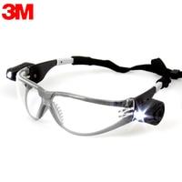 3m 11356 نظارات حماية مع أضواء LED حماية العين المضادة للصدمات/الغبار/الرمال سبلاش الرياح مرآة في الهواء الطلق نظارات رياضية KL0428-في نظارات حماية من الأمن والحماية على