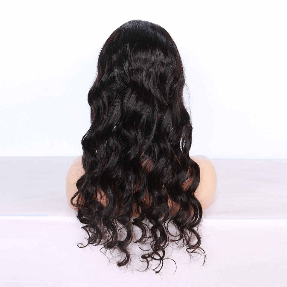 Полностью кружевные человеческие волосы парики с детскими волосами влажные и волнистые предварительно выщипанные бесклеевые полностью кружевные парики для женщин объемные волнистые перуанские волосы remy