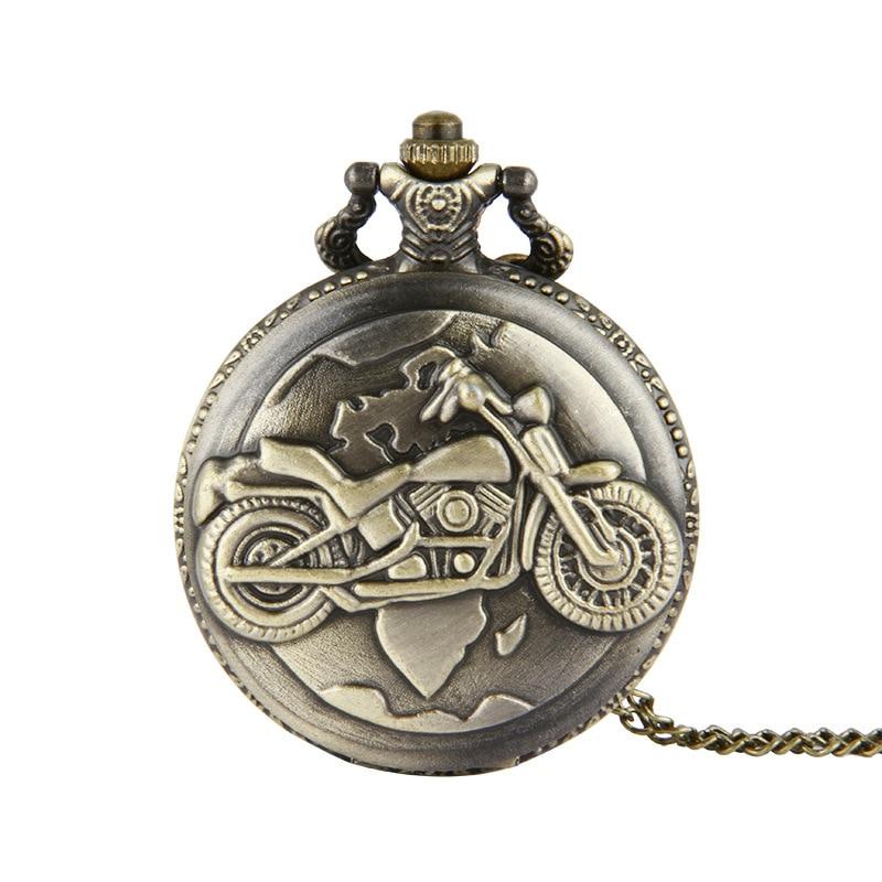 2018 Neue Klassische Vintage Bronze Quarz Taschenuhr Carving Halskette Kette Uhr Fob Taschenuhr Frauen Männer Für Geburtstag Geschenk