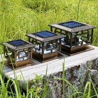 D30 * h25cm LED Открытый Солнечный сад лампы украшения столб аккумуляторная лампа ворота солнечный свет сада Бесплатная доставка