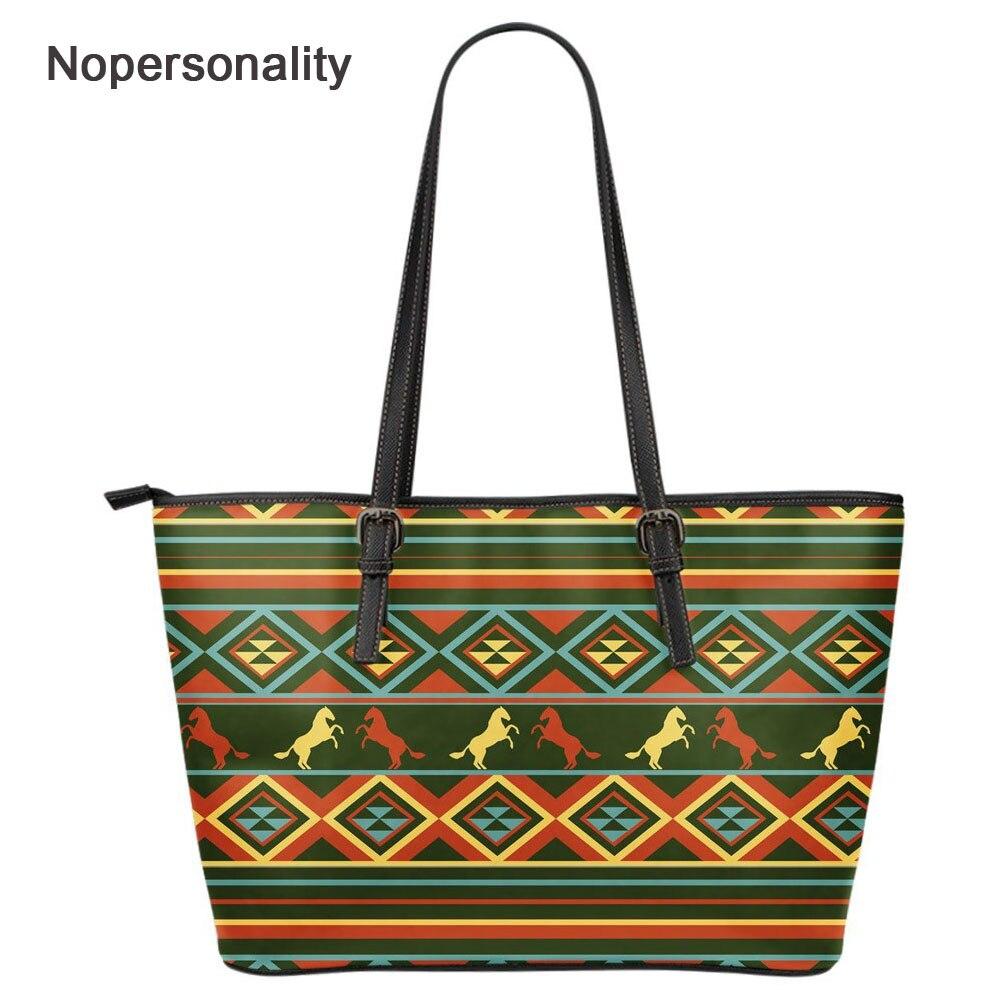 Nopersonalité Pu cuir Crazy Horse imprimer sac fourre-tout pour femmes grande capacité femme sacs à bandoulière décontracté dames sacs à main