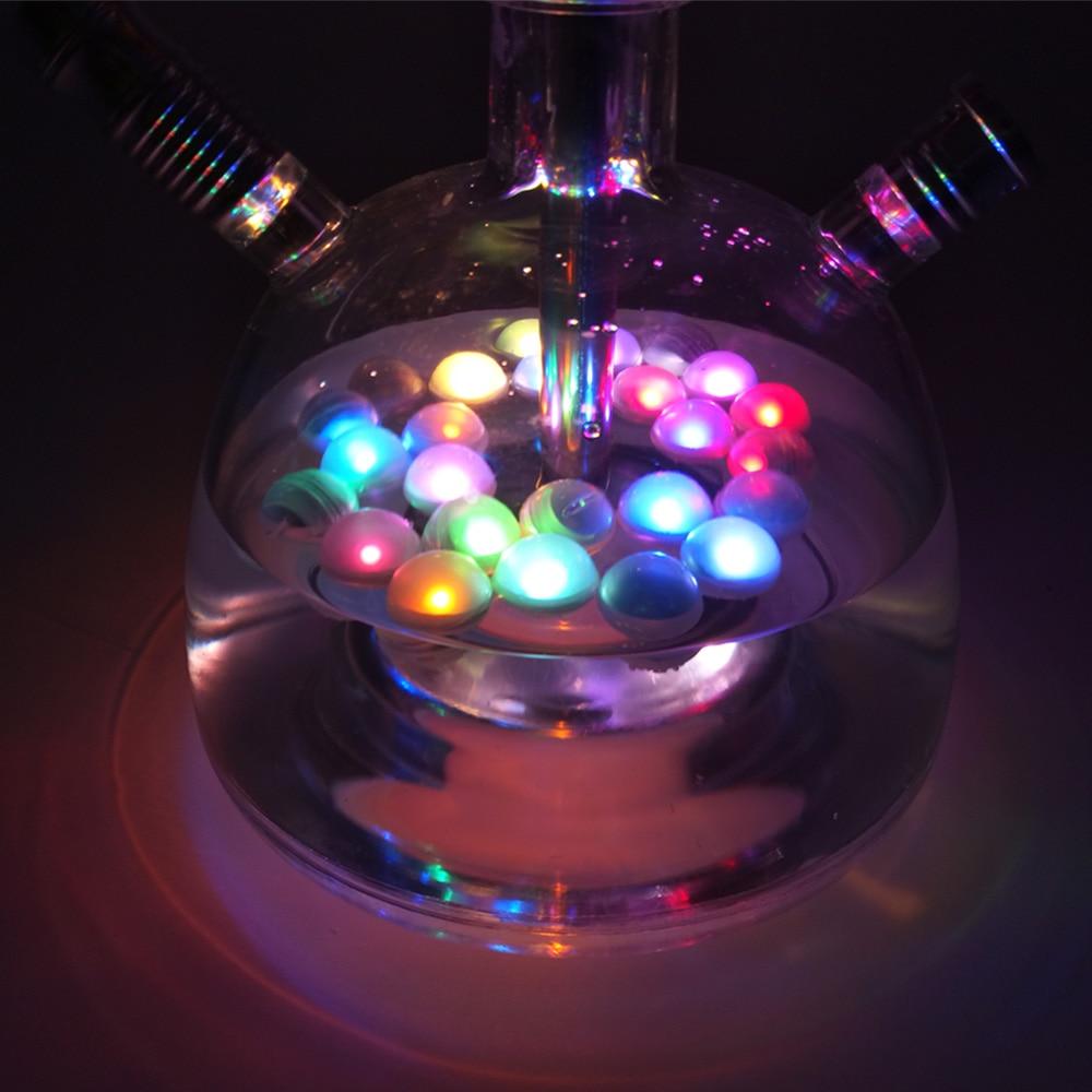 12pcs/lot Coloured Fairy Pearls LED Light For Shisha Hookah Chicha Narguile Bar Decoration Accessories Festive Party Decorations