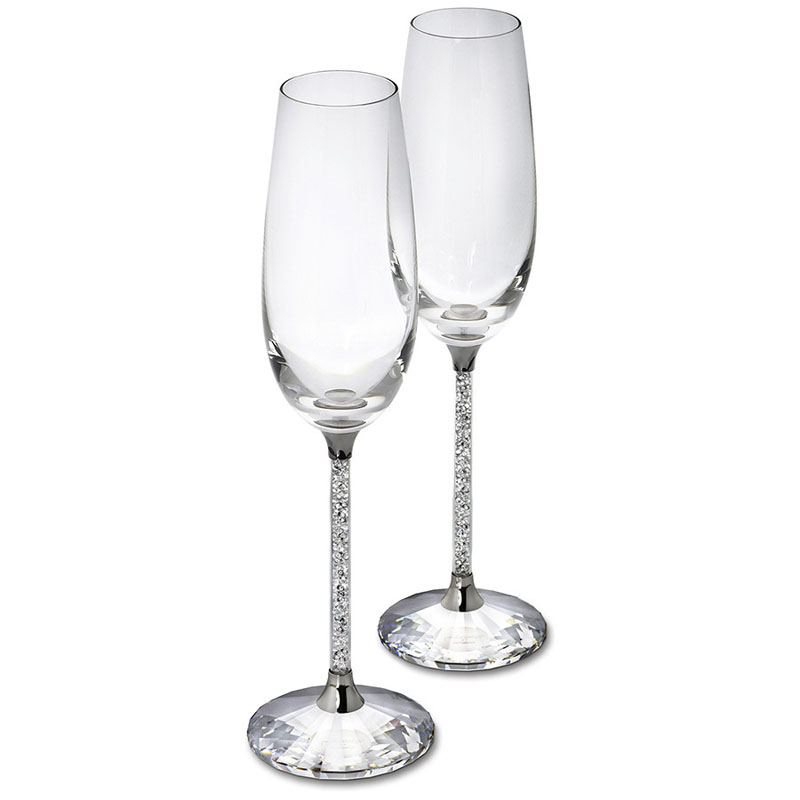 250ML šampanieša flautas vīna stikla kristāliska greznība kāzu ballīte grauzdiņos stikla kristāla rhinestones dizains H1003