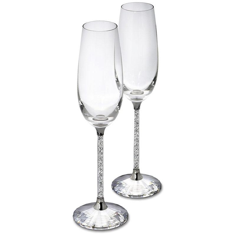 250ml שמפניה שמפניה יין כוס גבישי גביש יוקרה צד טוסט כוסות גביש קריסטל ריינסט עיצוב H1003