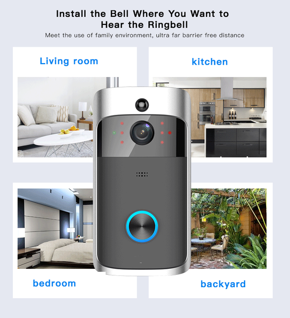 Wireless Doorbell With Video Recorder