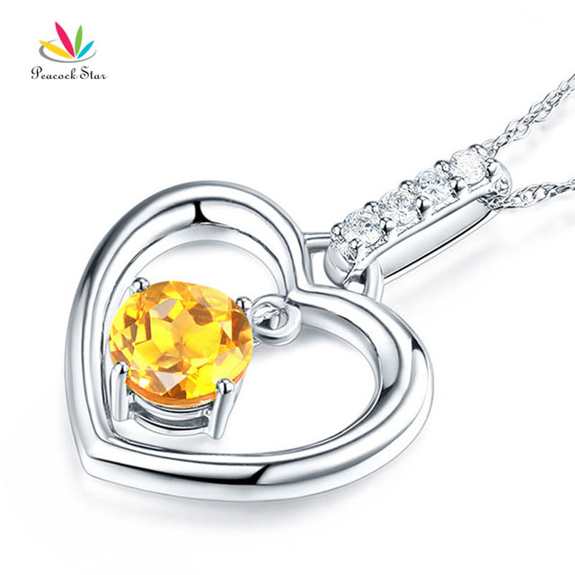 Peacock star fine 14k white gold citrine heart pendant necklace 004 peacock star fine 14k white gold citrine heart pendant necklace 004 ct diamond mozeypictures Image collections