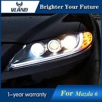 2Pcs For Mazda 6 Headlights 2003 2013 Led Head Lamp DRL Projector Headlight H7 hid Bi Xenon Lens