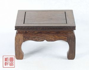 Image 1 - Red wood vase base of stone are recommended Wenge wood carving handicraft furnishing articles
