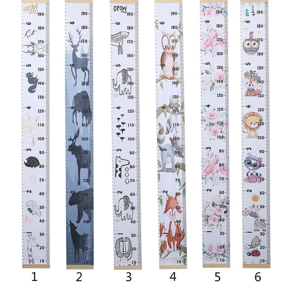 Cartoon Baby Kids Growth Chart Record Wood Frame Fabric Height Measurement Ruler for Boys amp Girls Child 39 s Room Wall Decoration in Decorative Growth Charts from Home amp Garden