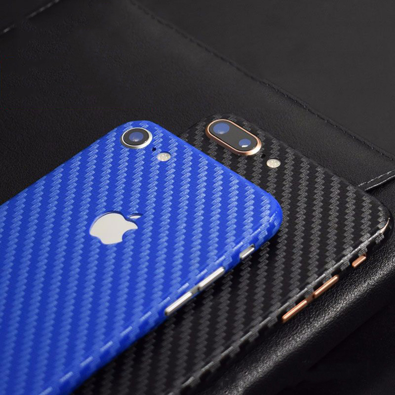 8 Colors Decorative Back Film For Apple iPhone 8 Plus Mobile Phone Protector iPhone8 Carbon Fiber Stickers AE Saver Ship