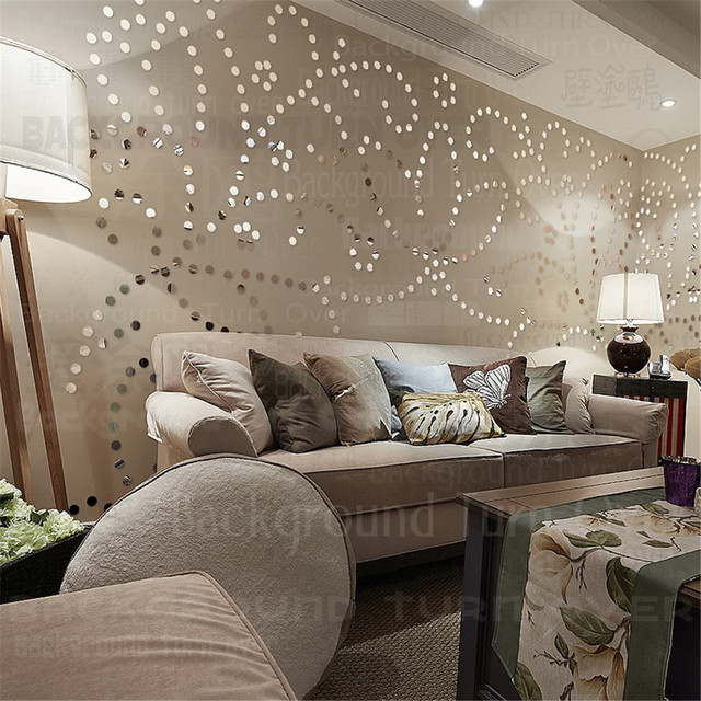 455 pcs/ensemble 3D Fleur Wall Sticker Salon Fille Chambre Salon De  Coiffure Décor Acrylique