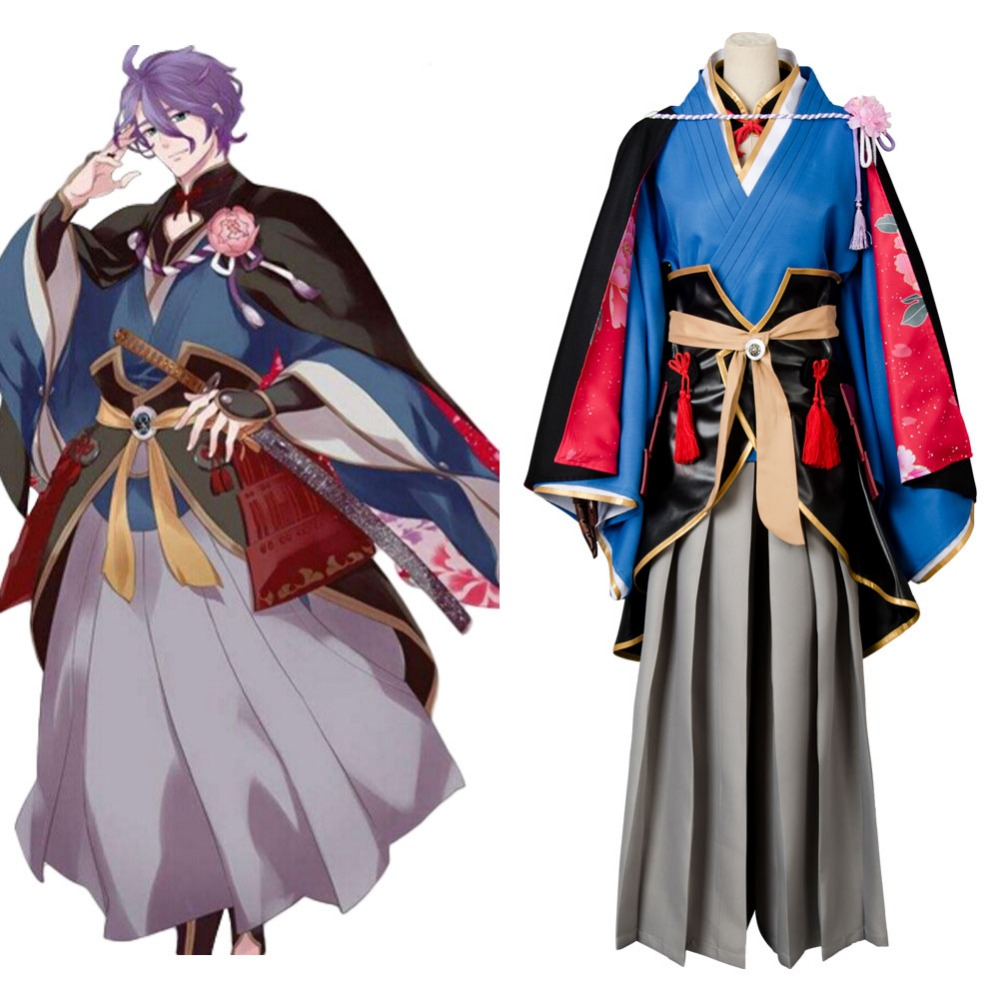 Cosplay Touken Ranbu Online Kasen kanesada Cosplay Costume Full Set Uniform Samurai Kimono Costumes Halloween Carnival costume
