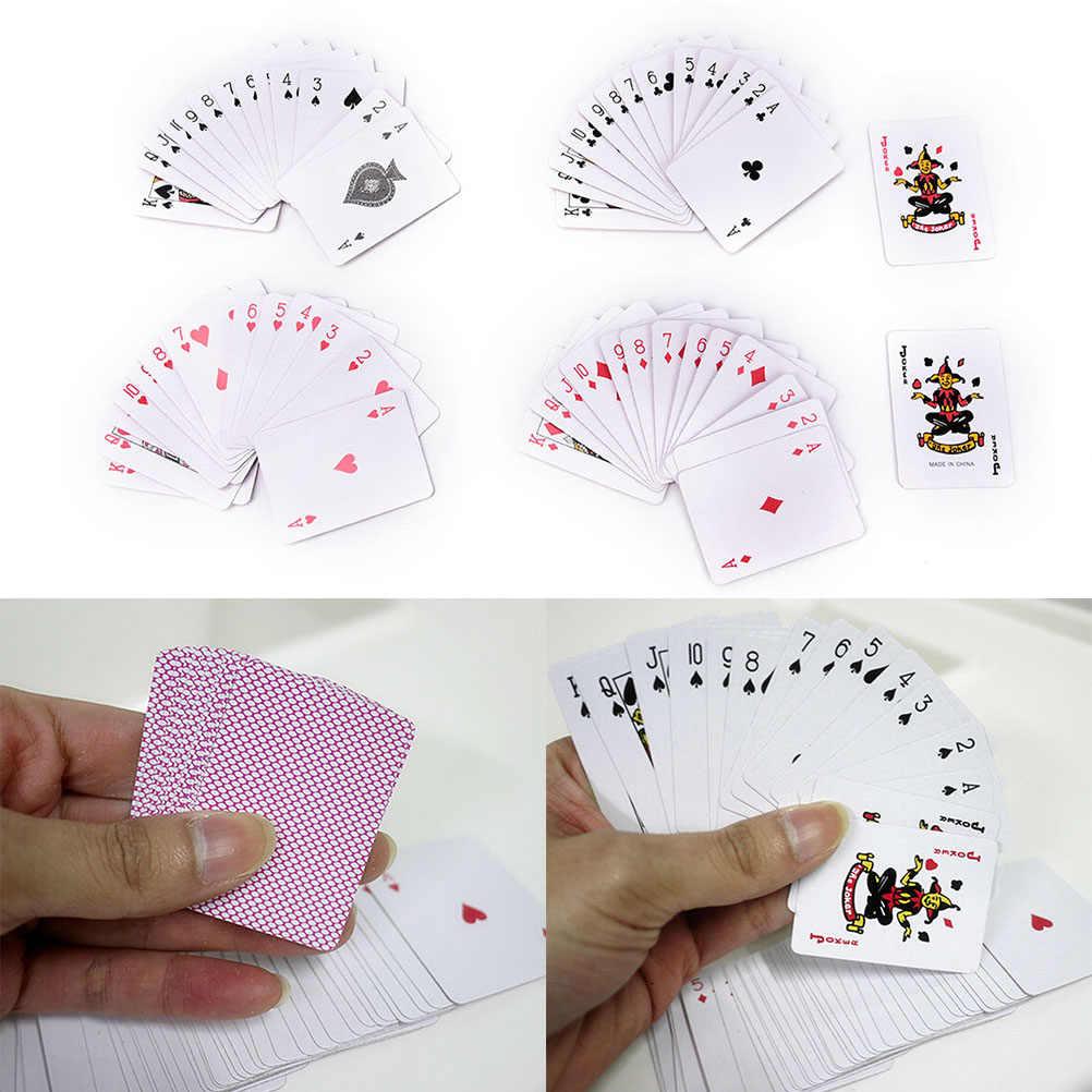 Mini Poker Kleine Spielkarten Familie Spiel Reise Spiel 5.3*3,8 cm