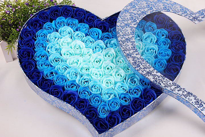 Nový příjezd 100ks parfémovaný papír růže koupel mýdlo sada kreativní svatební dárek srdce tvaru růže květiny dárková krabička pro den svatého Valentýna  t