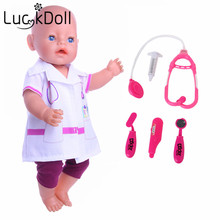 New arrivals Doctor suits + toys medical equipment Fit 43cm New Baby Born Zapf free shipping(without shoes)