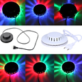 Amazing UFO Portable Laser Stage lights 8w rgb 48 leds sound activated Sunflower led lighting wall lamp for KTV DJ Party Wedding